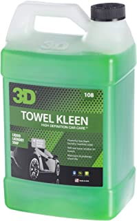 3D Towel Kleen - 1 Gallon | Low Foam Laundry Detergent for Towels | Leaves No Residue on Towels | Made in USA | All Natural | No Harmful Chemicals