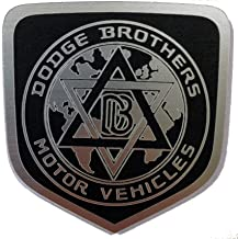 24Designs Compatible Front Emblem Dodge Brothers Black Replacement for Dodge Charger