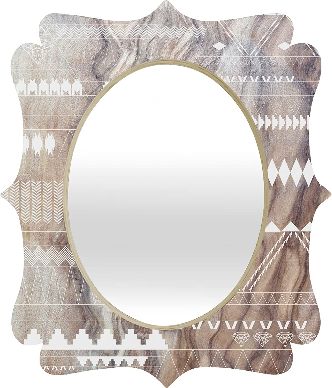 DENY Designs Iveta Abolina Geo Steps Quatrefoil Mirror, 17 x 14