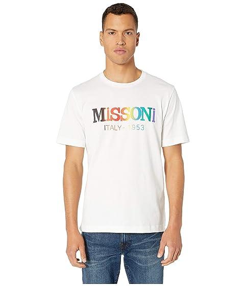 Missoni Cotton Jersey Printed Logo T-Shirt