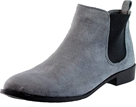 64008f831eb Larena Fashion New Womens Ladies Chelsea Ankle Boots Pull On Casual Flat  Comfy Shoes