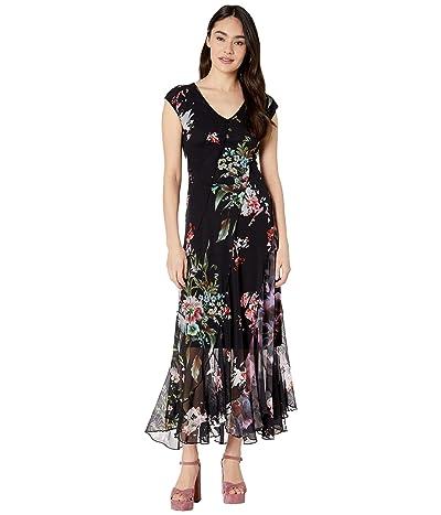 FUZZI Seamed Patchwork Long Dress (Black) Women