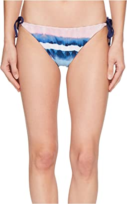 Splendid - Tie-Dye Stripe Reversible Tie Side Bikini Bottom