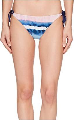 Tie-Dye Stripe Reversible Tie Side Bikini Bottom