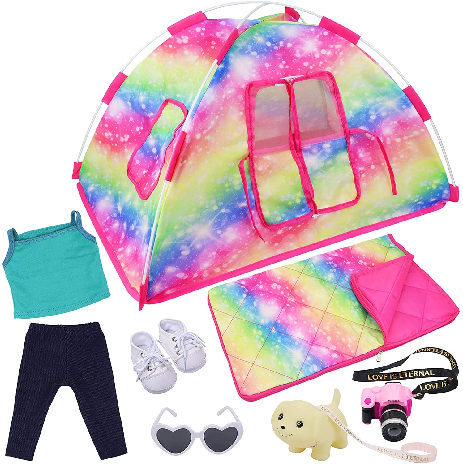 ZITA ELEMENT 7 Items Fashion Doll Choice Set Tent American Camping for low-pricing