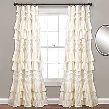 "Lush Decor, Ivory Kemmy Window Curtain Sing Panel, 84"" x 52"""