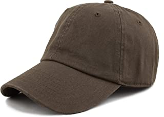 THE HAT DEPOT Unisex Blank Washed Low Profile Cotton and Denim Baseball Cap  Hat fe86b39df1602