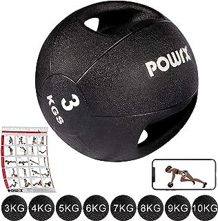 POWRX - Balón Medicinal con Asas 3-10 kg + PDF Workout (