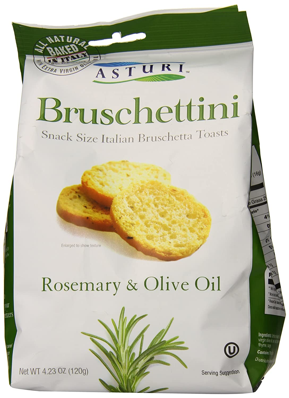 Asturi Bruschettini Rosemary Oakland Mall and Popular brand Olive Oil 4.23 Ounce PACK O -