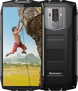 Rugged Cell Phones Unlocked, Blackview BV6800 Pro 4G LTE IP68 Waterproof Smartphone,Drop Proof Octa Core 4GB+64GB 6580mAh Android 8.0, 8MP+16MP Dual Rear Camera 5.7inches AT&T T-Mobile, Black