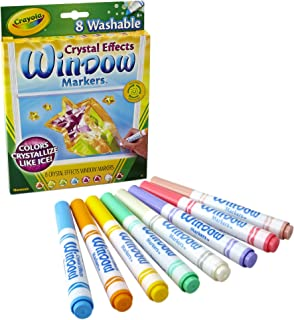 Crayola - 8 ct. Washable Crystal Effects Window Markers