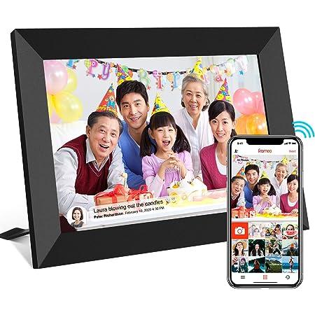 WiFi デジタルフォトフレーム WiFi対応 8インチ 1280 * 800高解像度IPSタッチスクリーン 16GB内部ストレージ Micro SDカードのサポート 自動回転 セットアップが簡単 Frameo APPを使用して写真やビデオを共有 日本語マニュアル