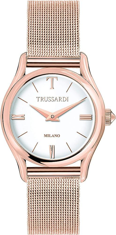 Trussardi orologio per donna,in acciaio, pvd oro rosa R2453127507