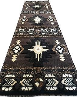 Southwest Native American Runner Area Rug Chocolate Design C318 (2 Feet X 7 Feet )