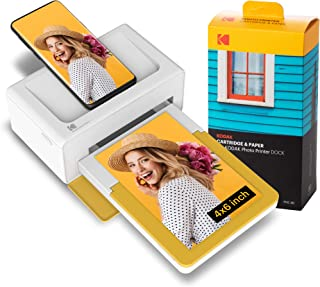 KODAK Dock Plus Instant Photo Printer Bluetooth Portable Photo Printer Full Color Printing Mobile App Compatible with iOS ...