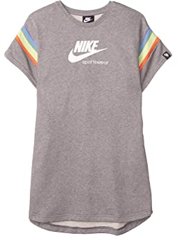 White Nike Junior Kids Heritage Logo Short Sleeve Cool Cotton T-Shirt Top Red