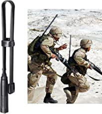 Bingfu Antena Walkie Talkie SMA Hembra Doble Banda VHF UHF 136-520MHz Táctica CS Plegable Suave Antena Radioaficionado Radio Bidireccional 47cm para Kenwood Wouxun Baofeng UV-5R BF-F8HP UV-82 GT-3