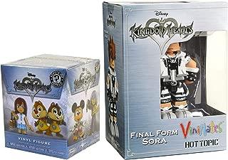 Final Form ViniMates Hot Topic Exclusive Sora Figure & Mini Funko Series Kingdom Hearts Disney Action Figure Collectible 2-Pack Game Gear Bundle