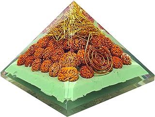 Piramide dell'Orgone con Rudraksha per la pace Trasformare l'energia Manifestare Ricchezza e prosperità Testimoni dello sp...