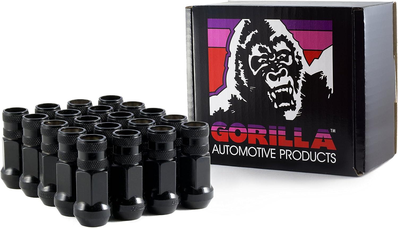 Gorilla Automotive 21138ETBC Small Diameter Lug Nuts E-T Style Bulk 12mm x 1.50 with Shank-Black Wheel Lug Nut Small Dia Lug Nuts E-T Style Bulk 12mm x 1.50 Black