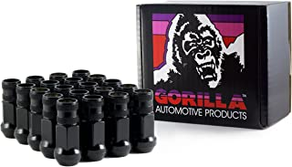 Gorilla Automotive 45048BC-20 Black 14mm x 1.50 Thread Size Forged Steel Chrome Finish Open End Lug Nut, (Pack of 20)