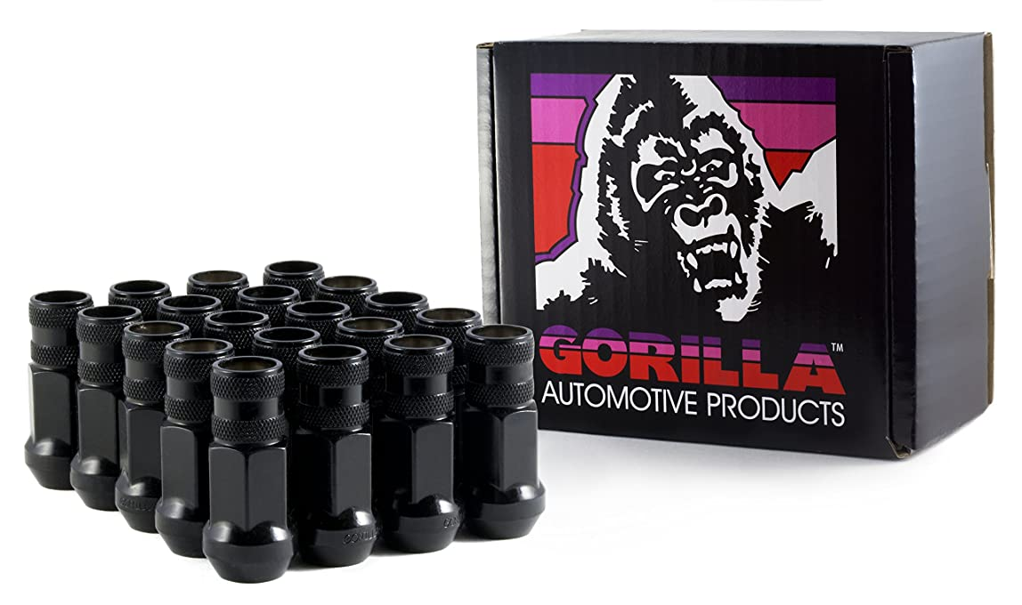 Gorilla Automotive 45038BC-20 Black 12mm x 1.50 Thread Size Forged Steel Chrome Finish Open End Lug Nut, (Pack of 20) kgbgiwx770977