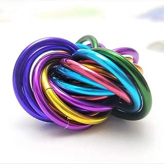 Mobii Rainbow, Medium Mobius Fidget Ball Toy, Stress Ball for Restless Hands, Office, School, Stim