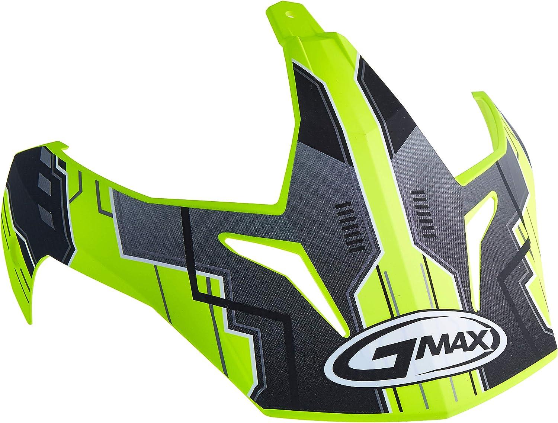 GMAX Unisex-Adult G011062 Visor Gm11D '15 Advntr Tc24 Tt Hi-Vis
