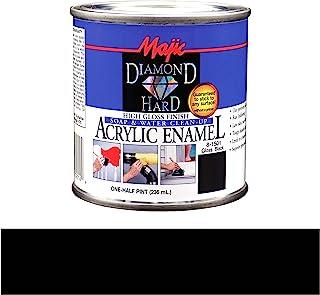 Majic Paints 8-1501-4 Diamond Hard Acrylic Enamel High Gloss Paint, Half Pint/8-Ounce, Gloss Black