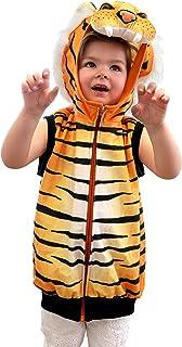 Small Foot 11126 Kostymväst tiger, utklädsel för barn från 3 års leksak, flerfärgad