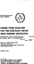 Power train analysis for the DOE/NASA 100-kW wind turbine generator