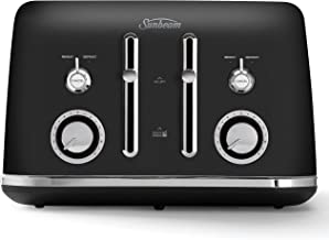 Sunbeam Alinea 4-Slice Toaster with High Lift | Wide Slots & Independent 2-Slice Controls | Dark Canyon Black | TA2740K