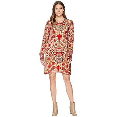 Hale Bob Odile Medallion Burnout Dress (Red) Women