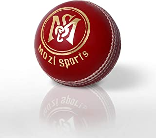 Mozi Sports Leather Cricket Ball Senior Hand Stitched Match Quality Balls (Single Red)