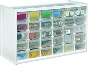 ArtBin Store-in-Drawer Cabinet; White Art Craft Storage, 6809PC 30 Drawers Clear