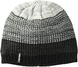 Ombre Knit Fleece Lined Beanie