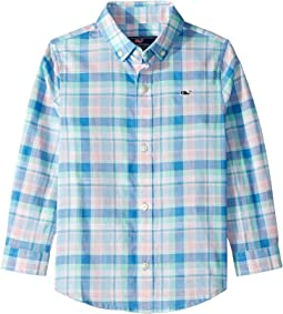 Gibbs Hill Plaid Whale Shirt (Toddler/Little Kids/Big Kids)