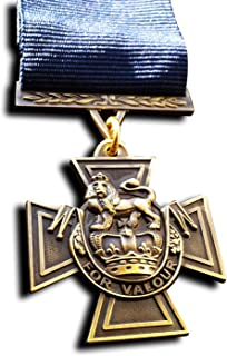 Goldbrothers13 Military Medal Victoria Cross Royal Navy WW1 Medal with Blue Ribbon 1918 Naval Repro