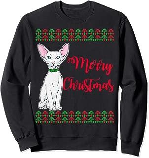 Merry Christmas. Hairless cat Desing. Holiday Gifts Sweatshirt