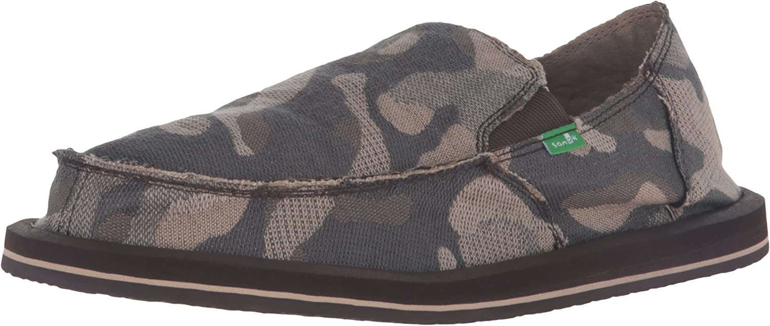 Sanuk Mens Vagabond Camo Slip-On Loafer