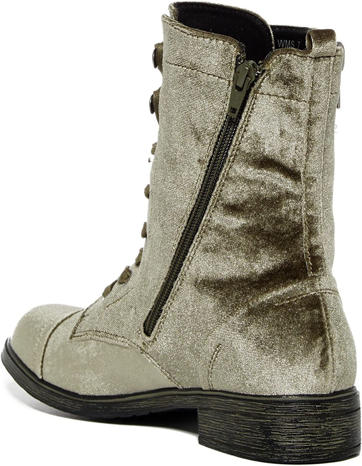 Report Footwear Womens Huey Lace Up Round Toe Mid-Calf Boots