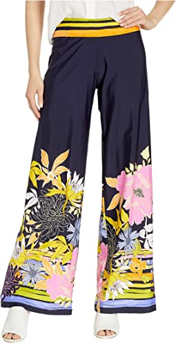 Bal Harbour Floral Roll Top Pants Cover-Up