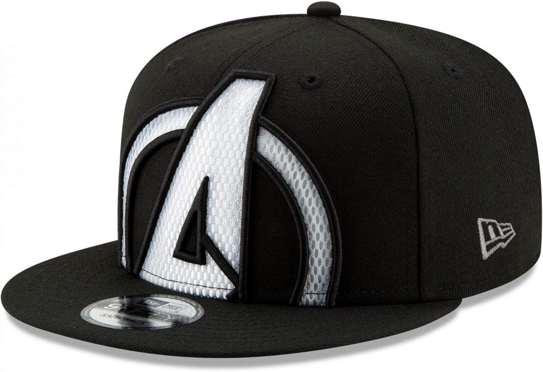 New Era Avengers Marvel 9Fifty Color Trim Snapback Cap Hat Black