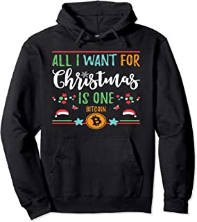 Christmas Ugly Sweater Bitcoin Design Pullover Hoodie