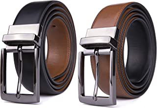 Mens Belt, Reversible Leather Belts for Men, Rotated Buckles, Dress and Casual, Classic & Fashion Designs for Man