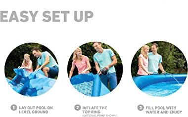 """Intex 18' x 48"""" Inflatable Easy Set Pool with Ladder, Pump, and Maintenance Kit"""