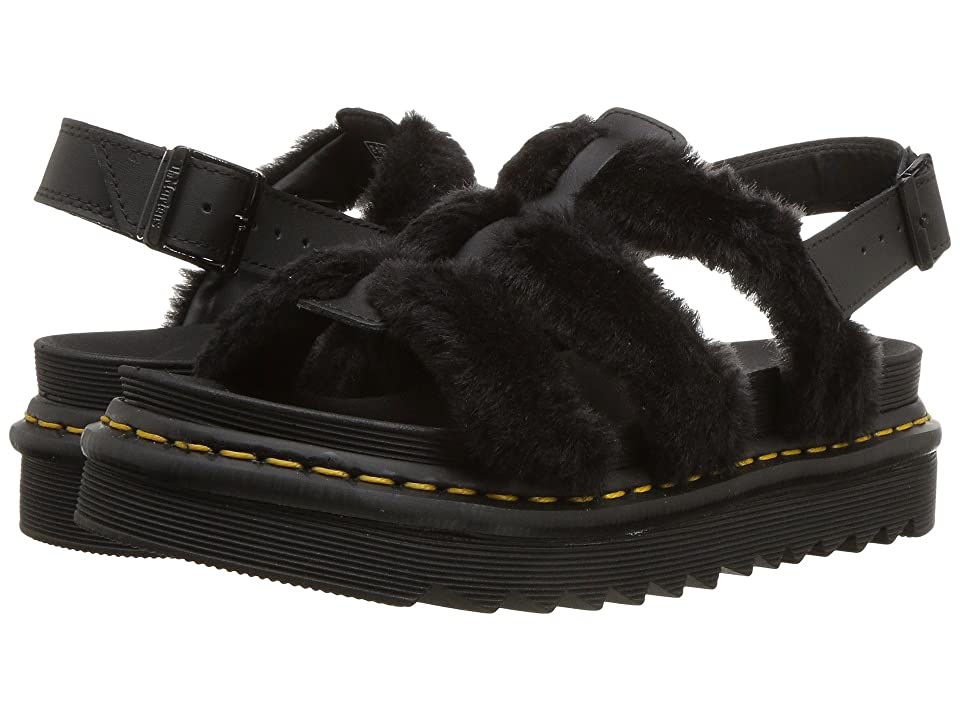 Dr. Martens Yelena Fluffy (Black Embossed Toby/Black Hydro Leather) Women