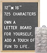 COSFLY Felt Letter Board with Letters 12 x 16 inches, Changeable Message Board with Easel Stand Include 725 Changeable Cha...