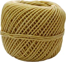 CozYours Thick Beeswax Hemp Wick 50Ft Spool, Organic Hemp Wick Coated with Natural Beeswax, Thick Gauge(2.0mm) + 4 eBooks ...