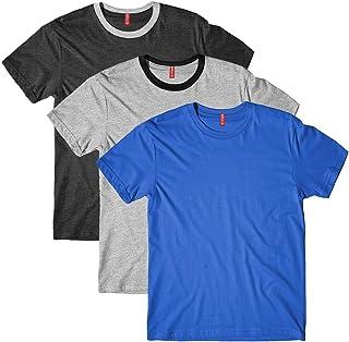 fanideaz Men's Cotton Round Neck Combo t Shirts for Men - Pack of 3